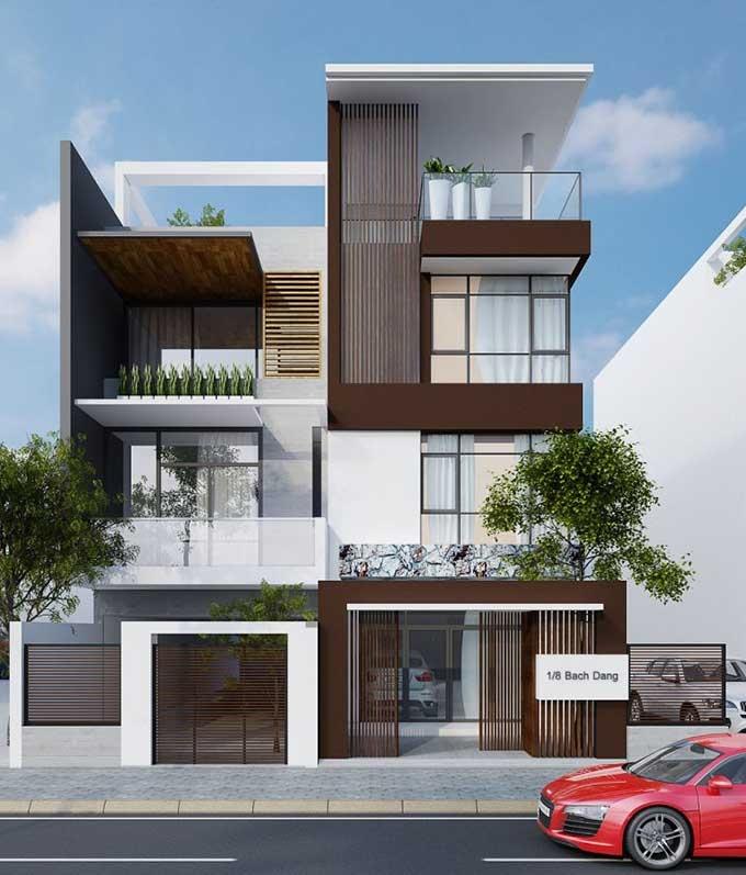 Home Design Ideas Elevation: Những Mẫu Thiết Kế Nhà Phố Có Mặt Tiền đẹp Hiện đại 2017