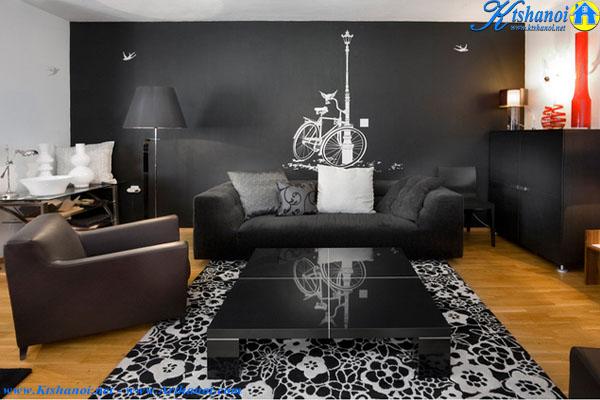 15 Mẫu thiết kế phòng khách tuyệt đẹp với các họa tiết đen