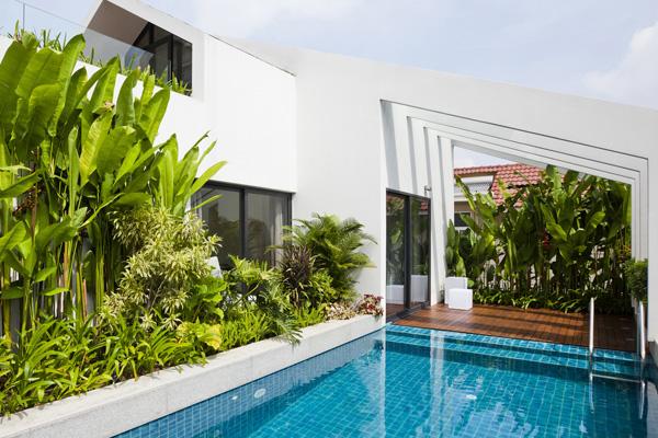 Biệt thự đẹp 3 tầng hiện đại có cây xanh kết hợp bể bơi trên tầng thượng-012