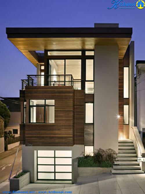 Thiết kế nhà đẹp hiện đại với không gian cởi mở