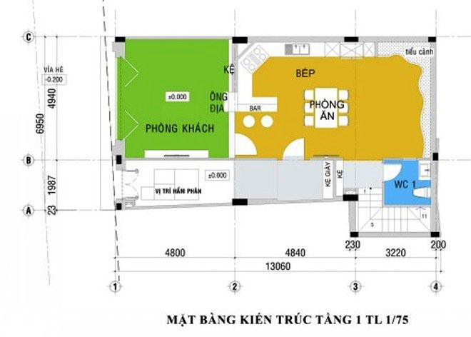 thiet-ke-nha-pho-5-tang-hien-dai-1 Thiết kế nhà phố hiện đại 5 tầng 7x13m