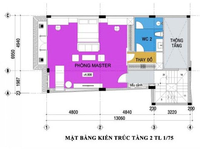 thiet-ke-nha-pho-5-tang-hien-dai-2 Thiết kế nhà phố hiện đại 5 tầng 7x13m