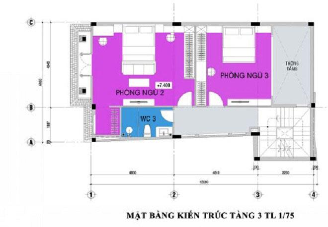 thiet-ke-nha-pho-5-tang-hien-dai-3 Thiết kế nhà phố hiện đại 5 tầng 7x13m