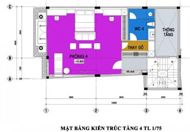 thiet-ke-nha-pho-5-tang-hien-dai-4 Thiết kế nhà phố hiện đại 5 tầng 7x13m