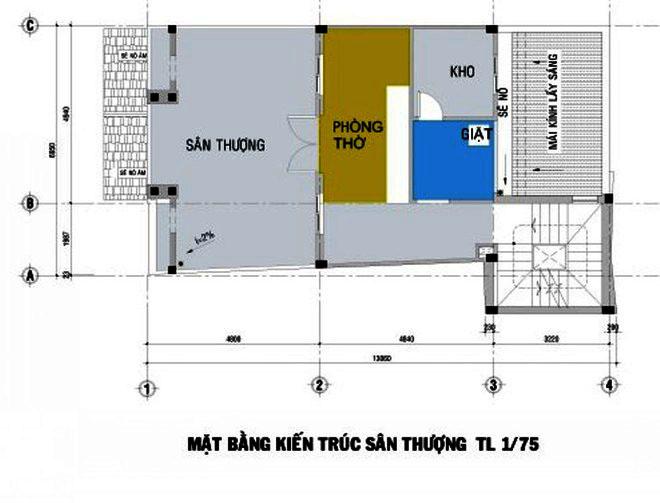 thiet-ke-nha-pho-5-tang-hien-dai-5 Thiết kế nhà phố hiện đại 5 tầng 7x13m