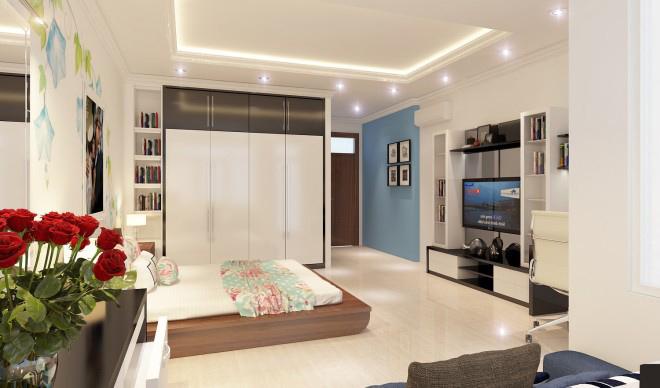 Thiết kế nội thất nhà phố xanh