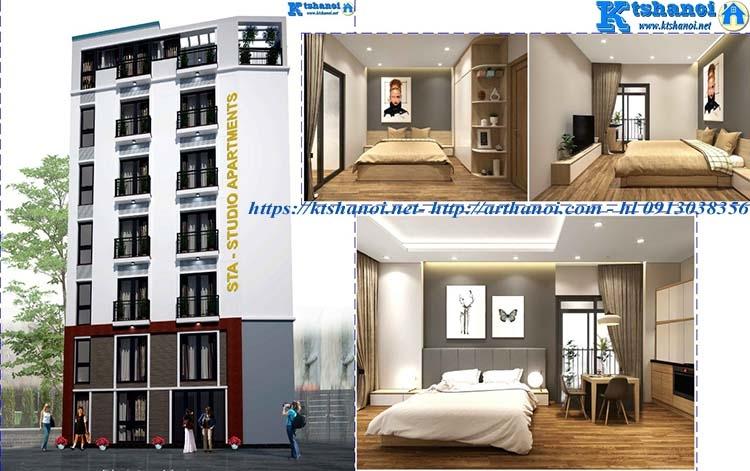 Thiết kế nhà cho thuê căn hộ khách sạn