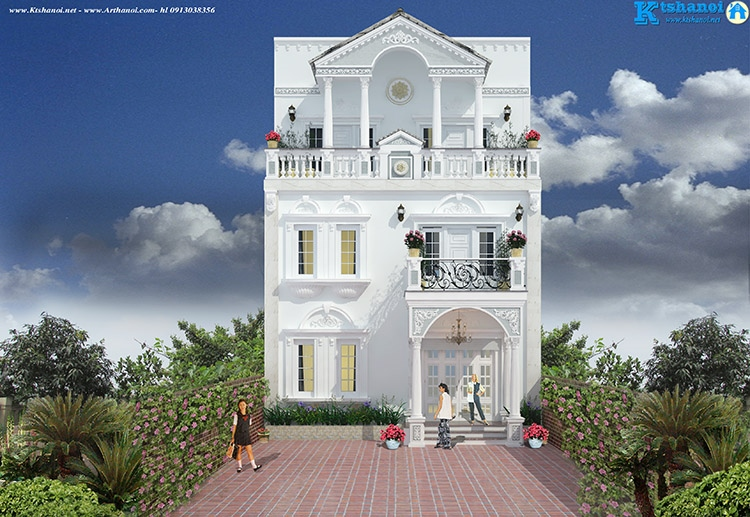 Mẫu thiết kế nhà biệt thự phù hợp cho tuổi Ất Mùi 1955