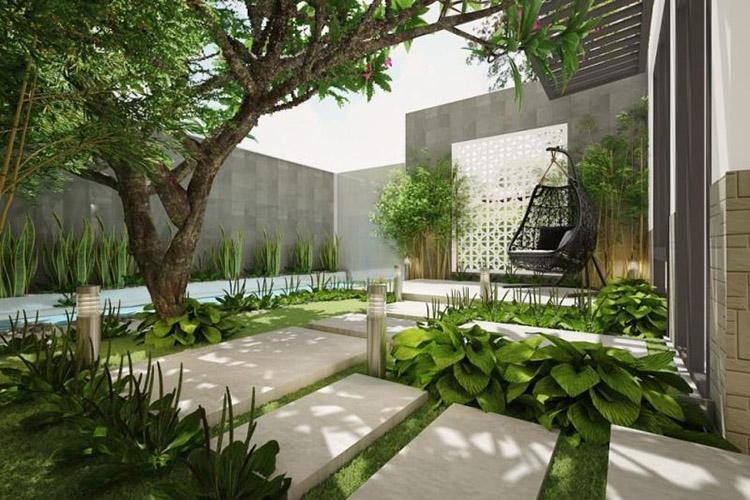 Xu hướng thiết kế nhà phố năm 2022 có sân vườn
