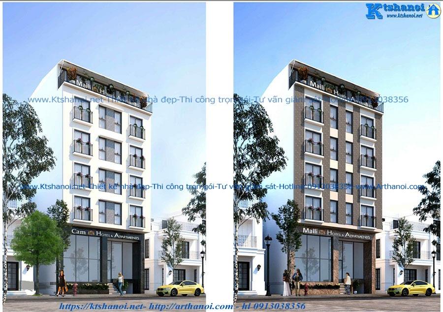Thiết kế nhà cho thuê căn hộ cao cấp